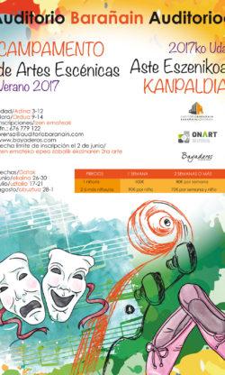 Abierta matrícula para los campamentos de artes escénicas de verano en Auditorio Barañain